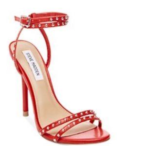 Red straps heels